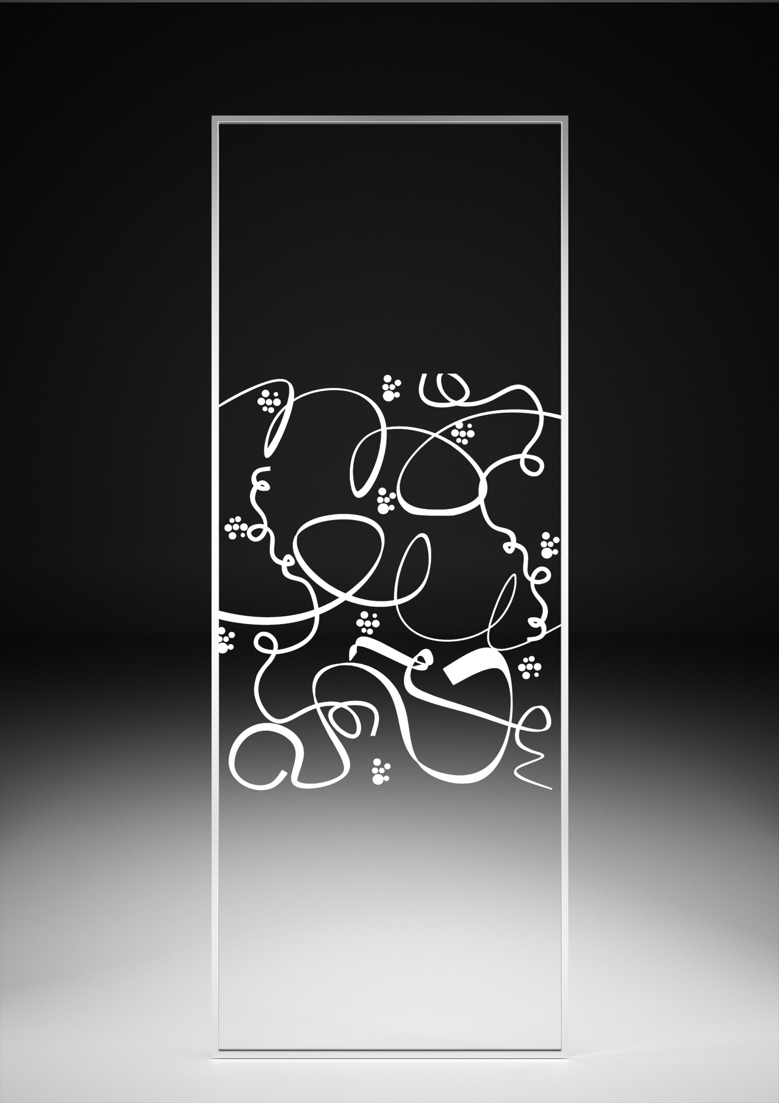 Serigrafía serpentina transparente